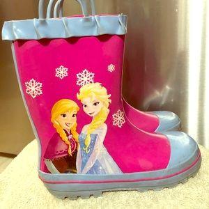 Girls Disney Frozen Rainboots size 13/1